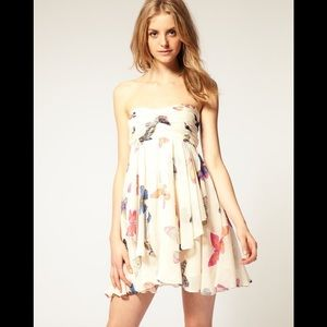 ASOS Butterfly Strapless Dress
